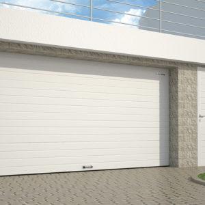 Гаражные секционные ворота из стальных сэндвич-панелей с пружинами растяжения DoorHan RSD01 BIW
