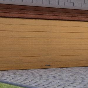 Гаражные секционные ворота DoorHan из стальных сэндвич-панелей с торсионным механизмом