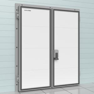 Дверь распашная двустворчатая DoorHan IsoDoor IDH2 для охлаждаемых помещений
