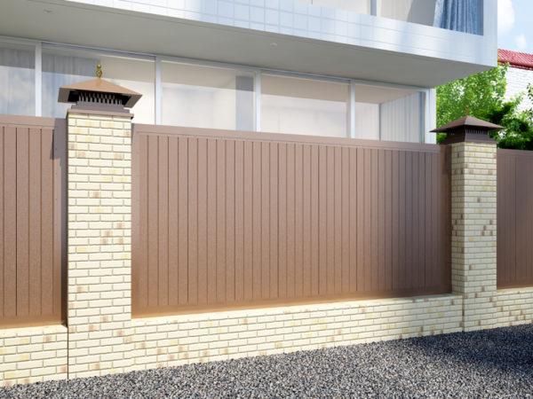Заборная секция DoorHan FS-A в алюминиевой раме с заполнением сэндвич-панелями