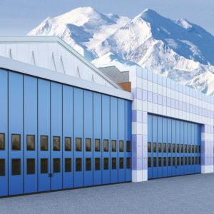 Промышленные складные ворота DoorHan с нижней направляющей