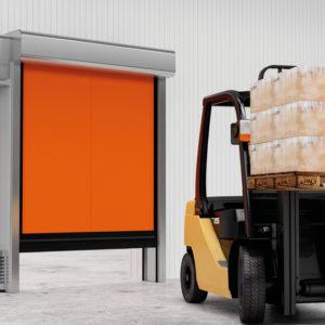 Скоростные рулонные ворота DoorHan Speedroll SDC для морозильных камер