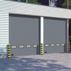 Секционные ворота DoorHan ISD01 из стальных сэндвич-панелей с торсионным механизмом